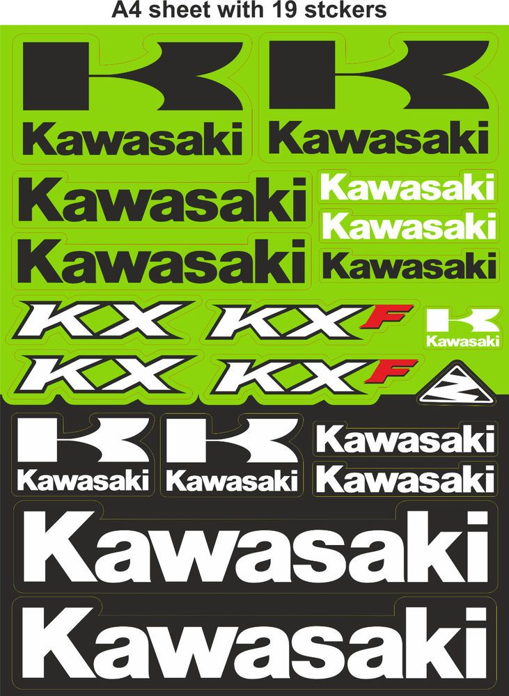 Kawasaki Stickers Race Stickers Decals Helmet Decal
