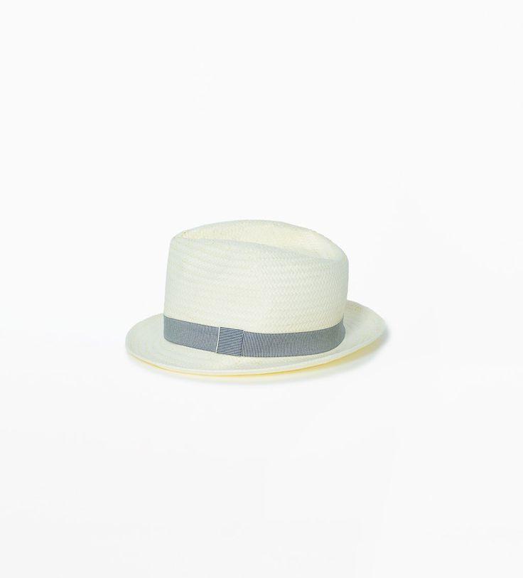 Bild 1 von Hut mit feingestreiftem Dekorband von Zara