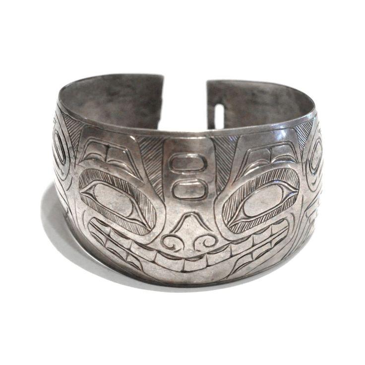 Vintage haida sterling bracelet