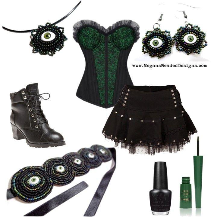 Goth in Green alternative fashion gothic