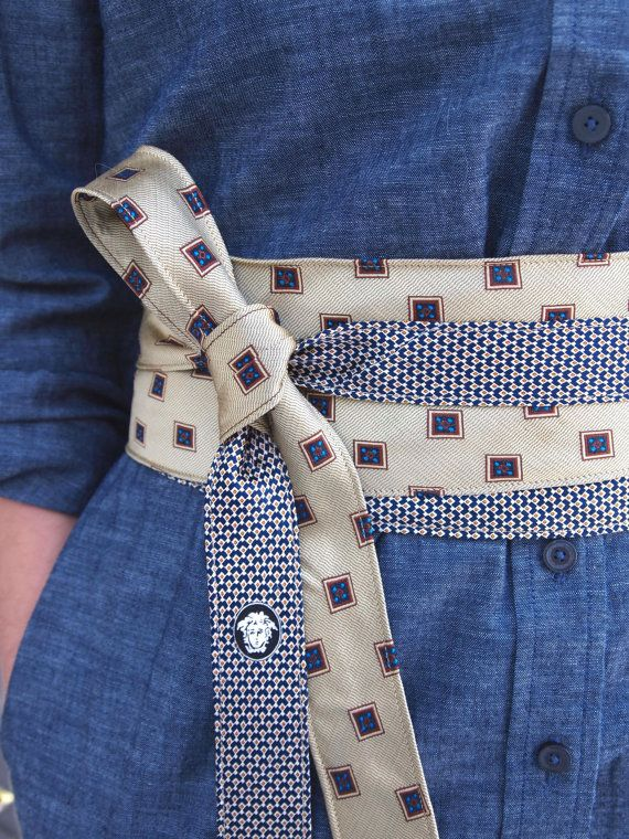 cute recycled tie belt
