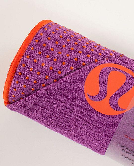 LOVE my lululemon skidless towel for hot yoga!