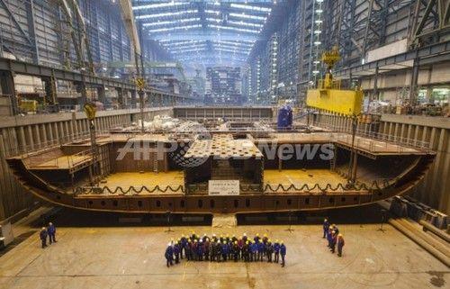 ロイヤル・カリビアン、第2の「クァンタム」級クルーズ船の組み立てに着手
