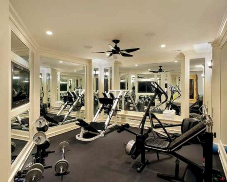 35+ Most Popular Home Gym Design Ideas To Enjoy Your Exercises Part 40