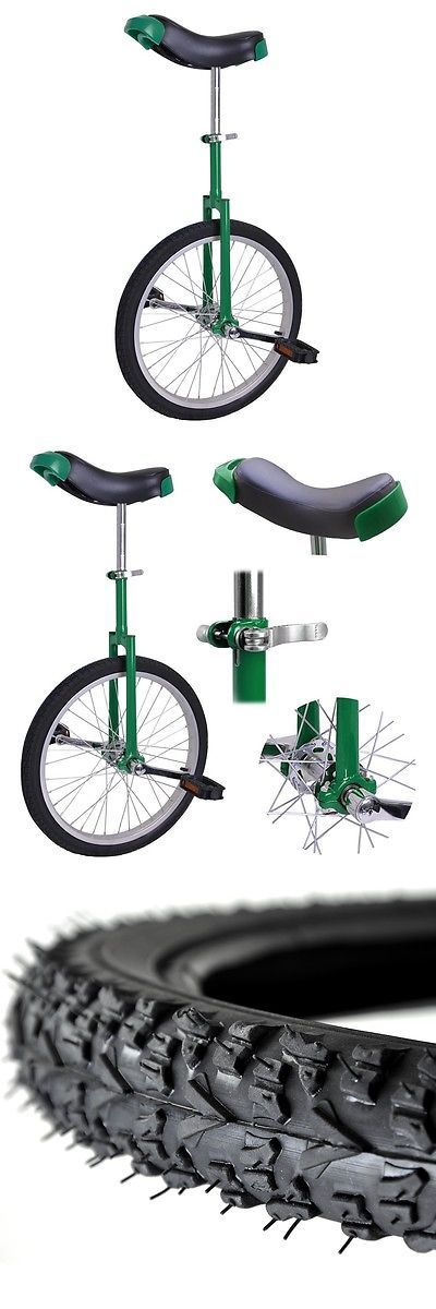 Other Cycling 2904: 20 Wheel Leakproof Butyl 1.75 Tire Unicycle Adjustable Cycling Green Exercise -> BUY IT NOW ONLY: $45.9 on eBay!