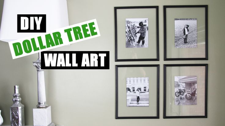 DOLLAR TREE DIY Floating Frame Art | Dollar Store DIY Gallery Wall Art |...