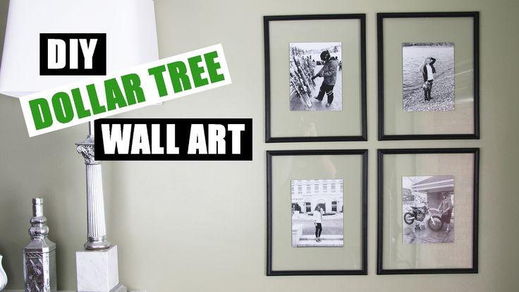 DOLLAR TREE DIY Floating Frame Art   Dollar Store DIY Gallery Wall Art  ...
