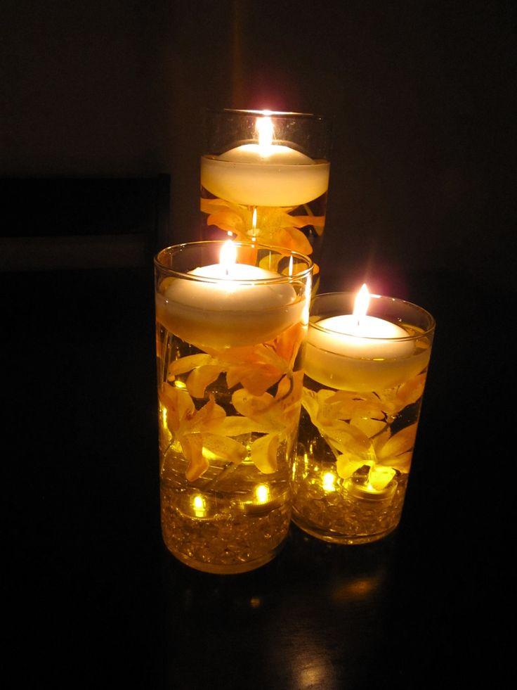 Best candle centerpieces images on pinterest