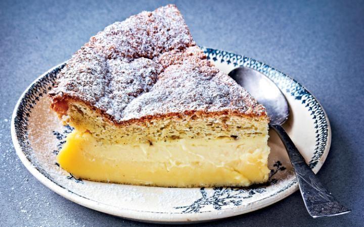 Magic vanilla cake - ên røre som gir tre lag.....