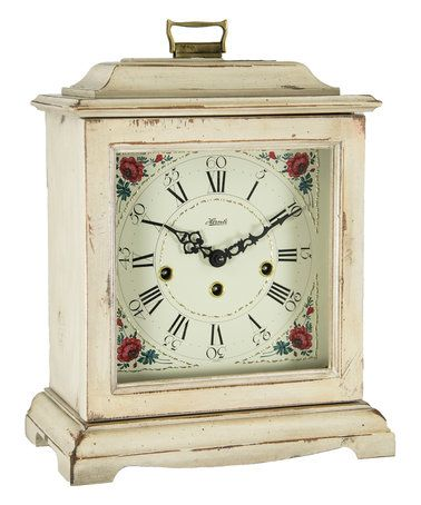 This Beige Weathered Wood Mantel Clock is perfect! #zulilyfinds