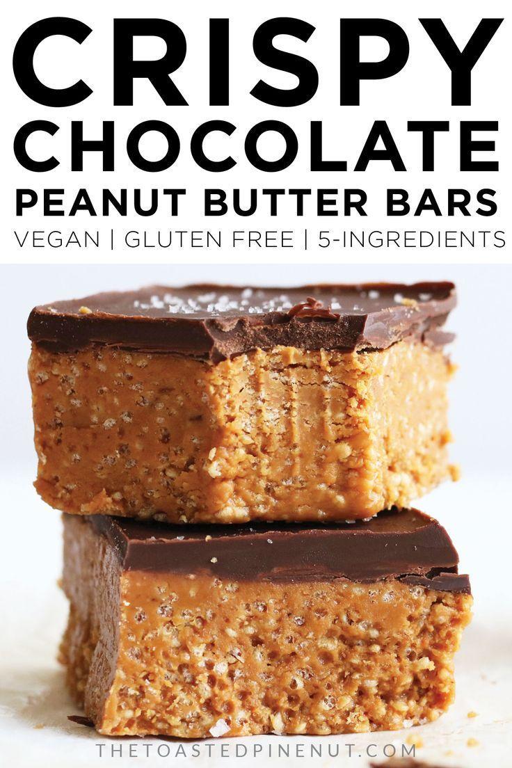Crispy Chocolate Peanut Butter Bars Recipe Peanut Butter Chocolate Bars Dessert Recipes Peanut Butter Bars