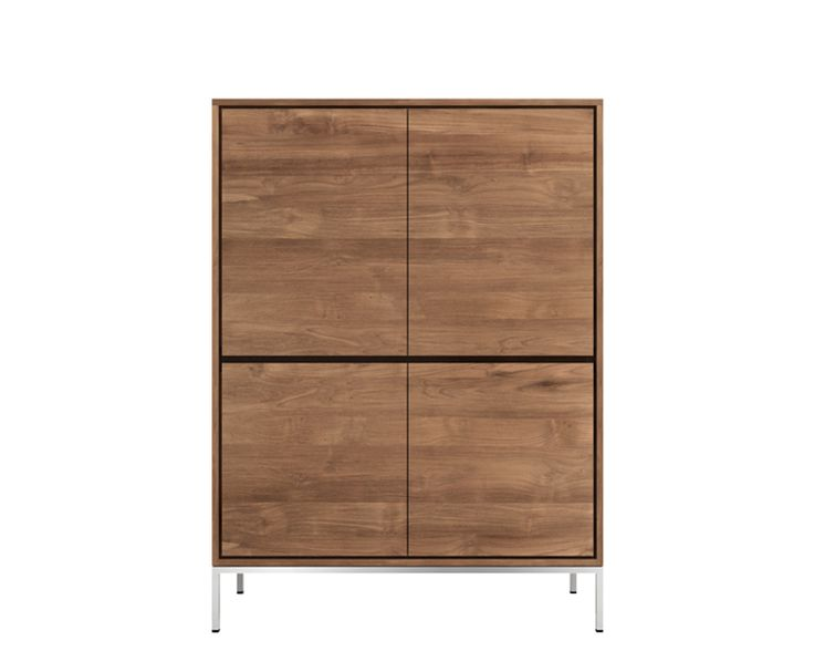 Ethnicraft© - Products » Cupboards »Teak Essential storage cupboard - 4 opening doors