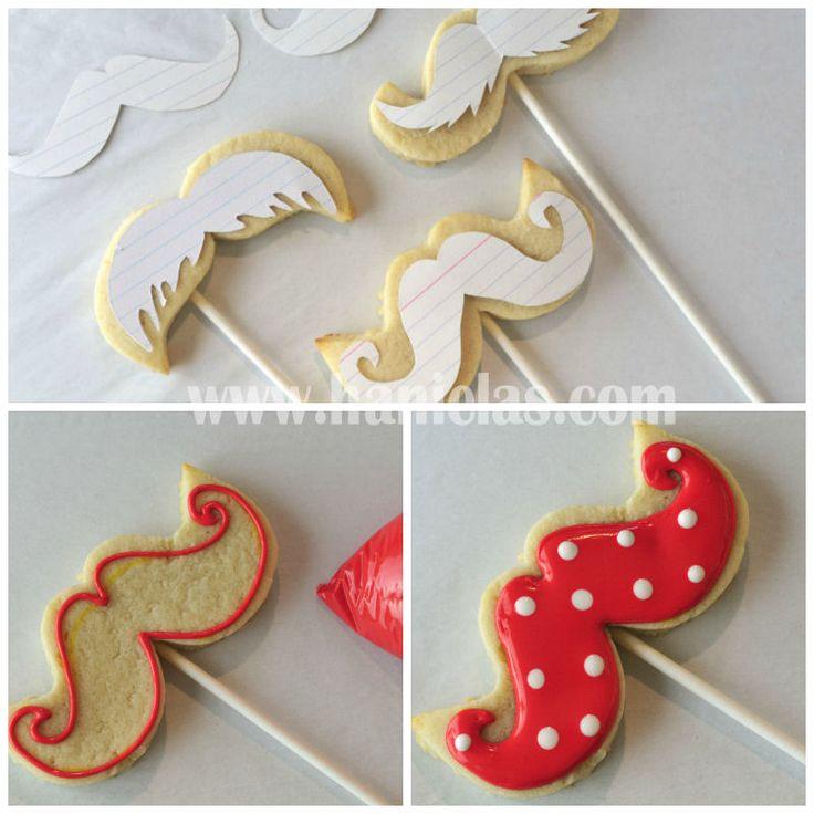 Haniela's: Mustache Cookies