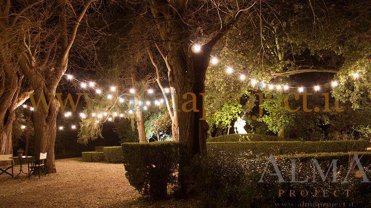150318 - ALMA PROJECT @ Borgo Stomennano - Giardino Botanico - Bulbs lighting test 1
