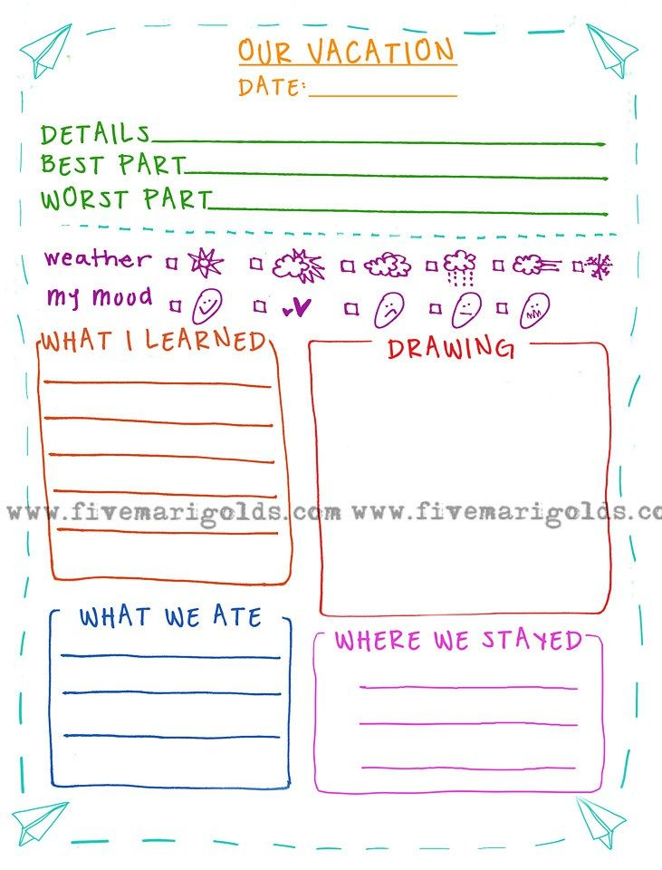 Adaptable image with regard to travel journal template printable