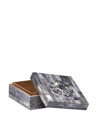 60% OFF Dynasty Gallery Buffalo Horn Box with Crab (Grey/Silver)