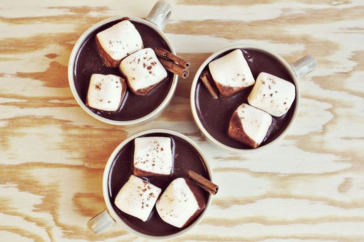Aztec Hot Chocolate: Hot Chocolates Recipes, Aztec Hot, Beautiful Mess, Comforter Food, Almonds Milk, Marshmallows, Drinks, Hot Coco, Cold Weather