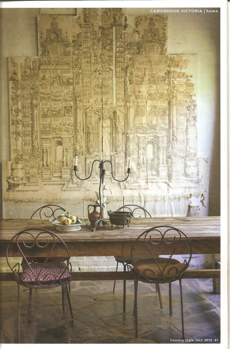 Paer artwork glued to chipboard carisbrook victoria for Victoria magazine low country style
