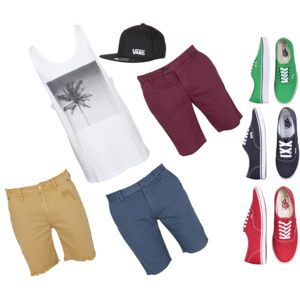 Tank top, denim cut-offs, and Vans - 'The Ultimate Surfer Guy Outfit' by 14 year old Australian teen stylist Amira-Paloma. All pieces are available in Australia. Click on individual items for prices and store details. http://www.thekidsareallright.com.au - the #Australian website and forum for #parenting #teenagers