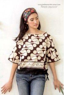 batik amarillis's peek a boo blouse