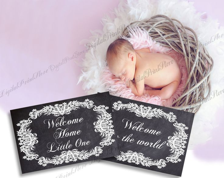 Welcome Home Little One, Two Lace Monthly Onesie Stickers, Milestone Printable  Months 1-12 by DigitalPrintStore on Etsy