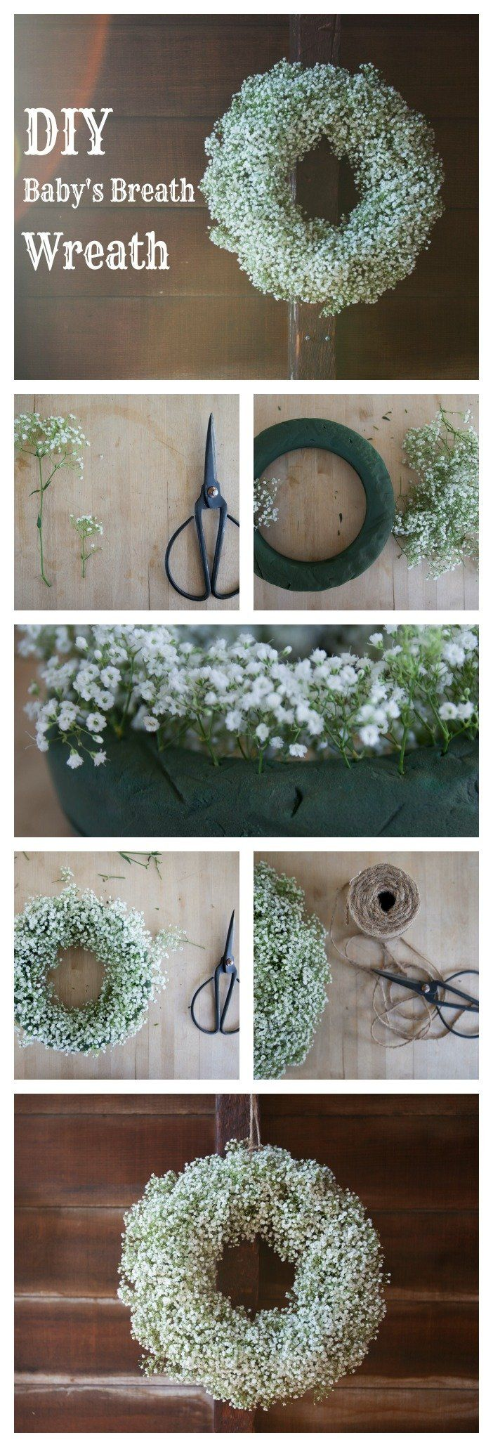 DIY Baby's Breath Wreath. Cool and real-looking baby's breath at Michael's