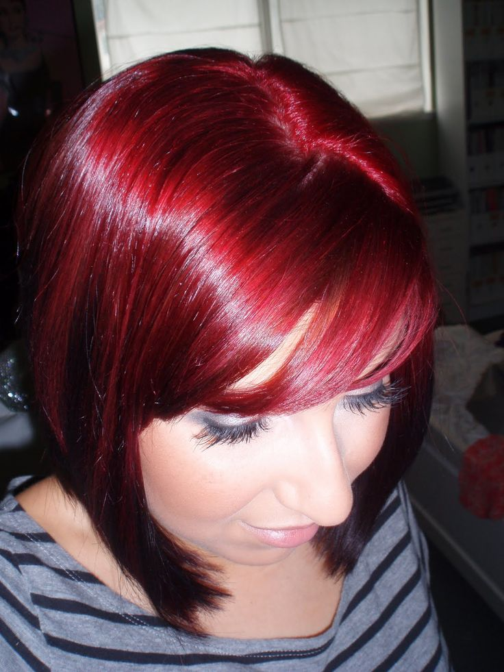 l'oreal hicolor - Magenta w/ Red Hilights