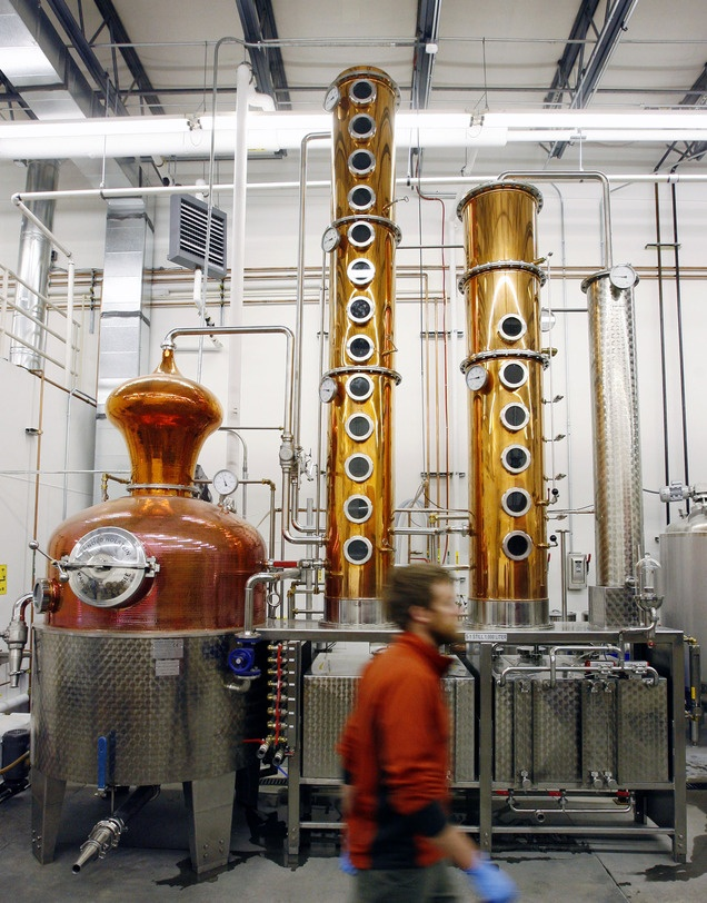 Guests can get a behind-the-scenes look at High West Distillery's 250-gallon copper still in Park City and learn how whiskeys are made during free public tours offered every day at 3 and 4 p.m. (Tribune file photo)