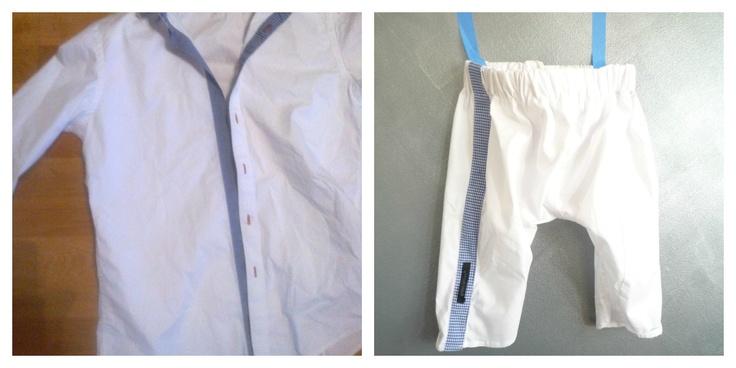 Boy's summerpants from anold men's shirt