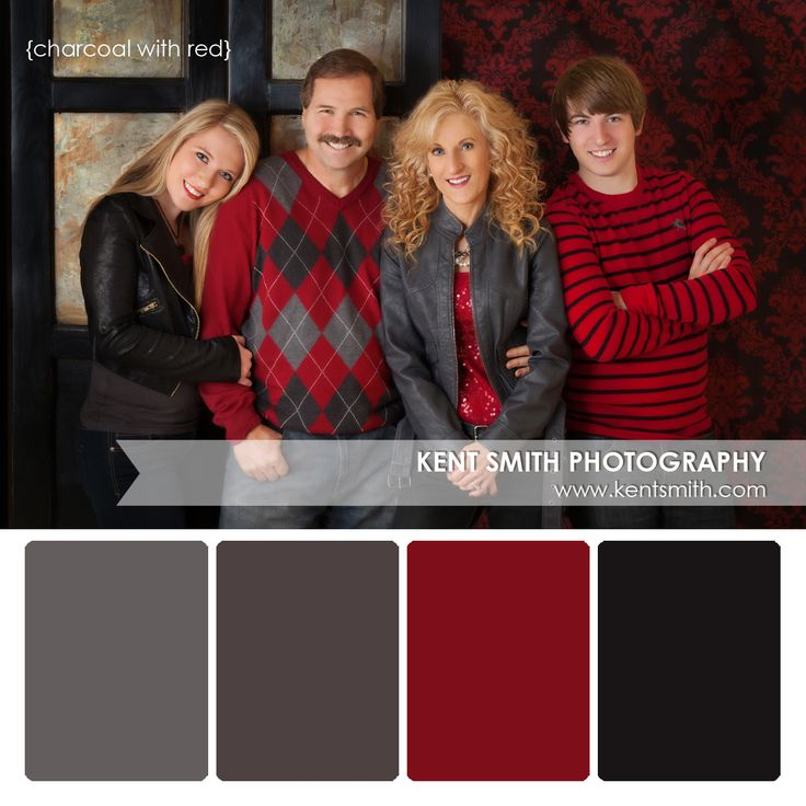 Portrait Palette {charcoal and red}