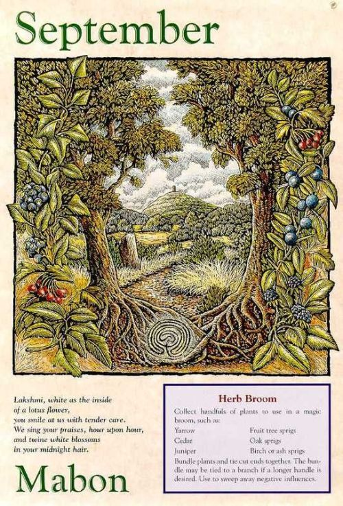 """bruxa-de-cereja: """" .MABON. Mabon is one of the eight solar holidays or sabbats of American Neopaganism. It is celebrated on the autumn equinox, which in the northern hemisphere is circa September 21 and in the southern hemisphere is circa March 21...."""