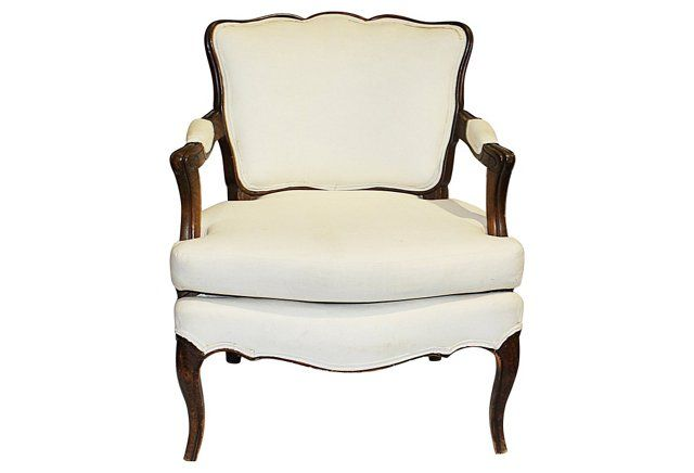 Antique French Country Low Armchair Decorate French