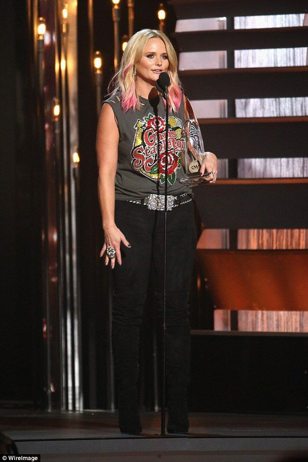 She won big: Miranda Lambert took home the award for Female Vocalist Of The Year at the CMAs on Sunday