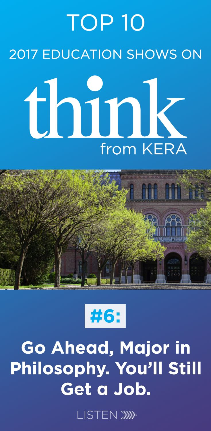 NO. 6, from KERA's Think show with host Krys Boyd: College students with ambitious career plans usually gravitate to business schools, law schools, maybe medicine. George Anders joins us to talk about taking a different approach — he wrote a book titled, 'You Can Do Anything: The Surprising Power of a 'Useless' Liberal Arts Education.' Enjoy our No. 6 most popular #education episode of the year. #highered #highereducation