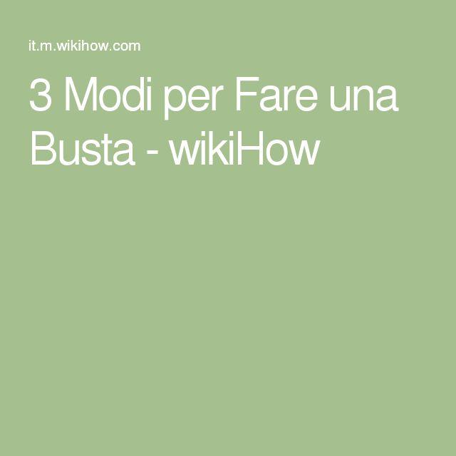 3 Modi per Fare una Busta - wikiHow