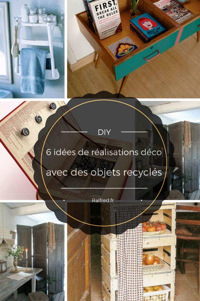 DIY 6 idées de réalisations déco avec des objets recyclés