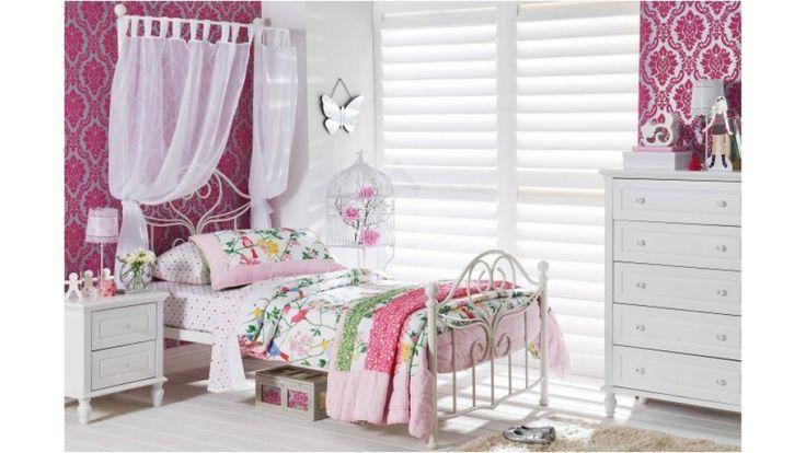 Jupiter Single Half Tester Bed - Kids Beds & Suites - Bedroom - Beds & Manchester | Harvey Norman Australia $199