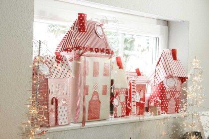 DIY Dezember acufactum Weihnachtsdorf Pakete