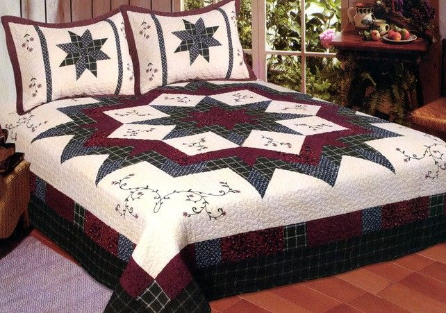Morning Star Quilt   American Hometex Quilts   King Size - Blanket Warehouse