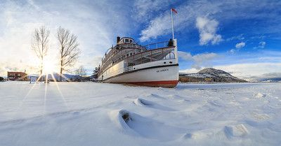 Sicamous Winter Panoramic - Sicmous Snowday - Drew Photography Penticton - Winter Landscapes