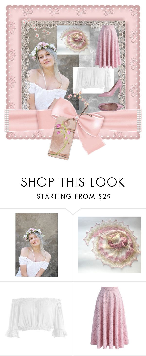 """""""romantic girl"""" by black-passion ❤ liked on Polyvore featuring Sans Souci, Chicwish, poletsy and blackpassion"""