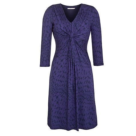 Buy John Lewis Capsule Collection Pebble Print Dress, Purple Online at johnlewis.com