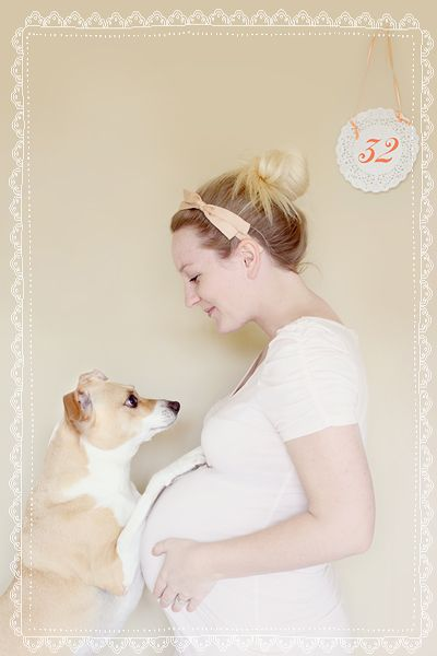 oh how i wish i would of done this when i was pregnant with scarlett with my dog Paris! Paris was always on my belly while pregnant with her!