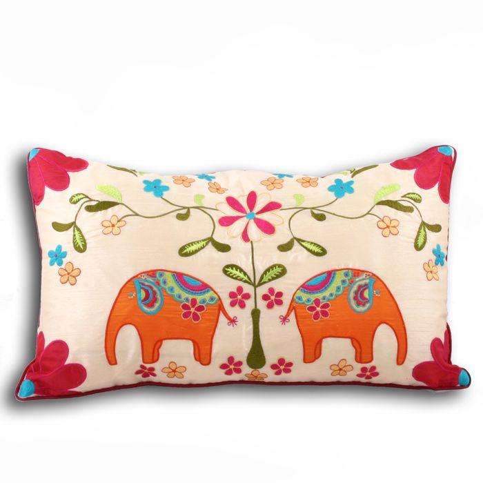Mumbai Ethnic Elephant Cushion