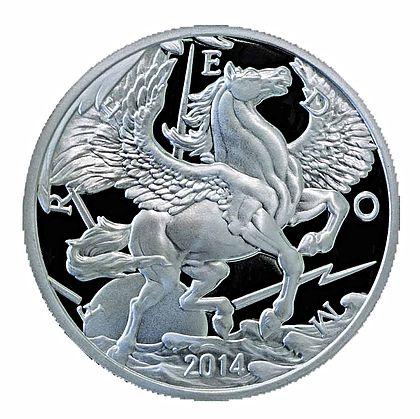 10 Ounce 2014 Pegasus Proof Silver Bullion Coin – ArtInCoins