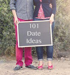 101 Date Ideas- great list of unique, creative date ideas!