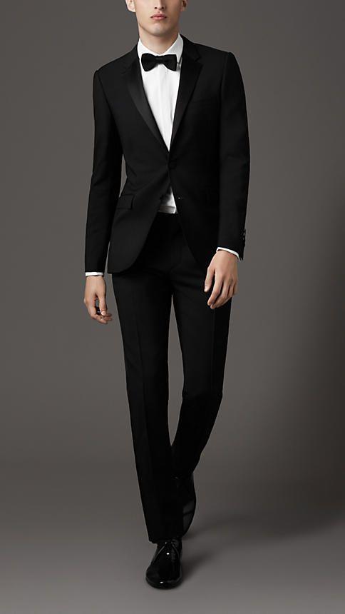 Slim Fit Wool Mohair Tuxedo   Burberry   $2295   Black   39158561