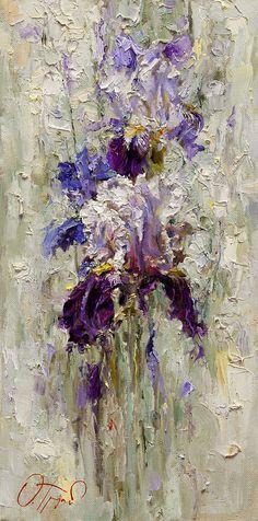 Iris Painting by Oleg Trofimoff