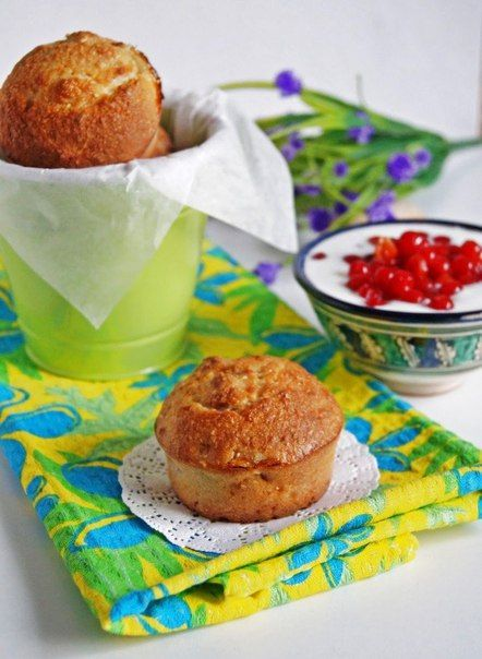 Манные кексы с бананом и кокосом | Кулинарные Рецепты