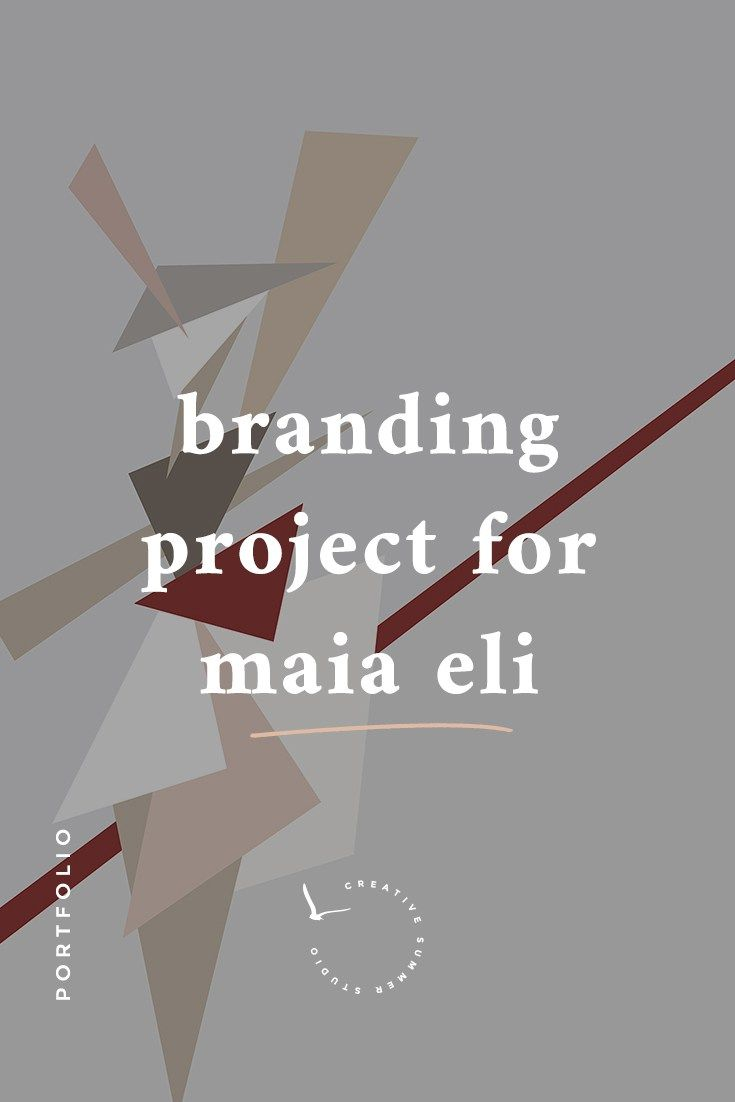 Click here to read the story behind the branding process for Maia Eli, a painting and design studio. With soft shades, pale nudes, minimal typography, discreet but intentional brush strokes combined with geometric elements, and a custom handwritten logo, her new blog ended up being lovely. Click here to read the story behind this fun branding project.  branding, rebranding, minimal design brand identity, style guide, handwritten logo,  feminine logo, nudes color palette, minimal WordPress…